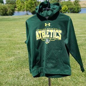 Like new UA Oakland A's hoodie size YMD